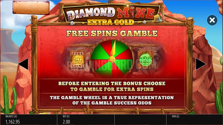 Diamond Mine: Extra Gold Free Spins Gamble