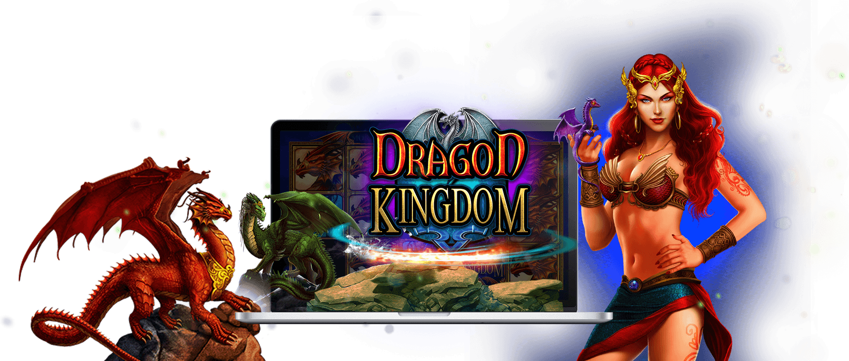 dragon kingdom slots game logo