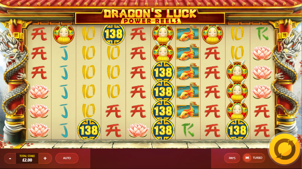 Dragons Luck Power Reels Gameplay