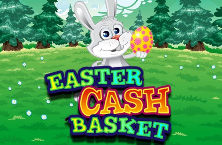Easter Cash Basket Slot Game Logo