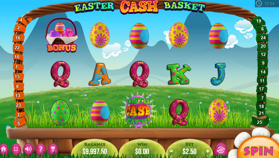 Easter Cash Baskets Slot Game Screenshot