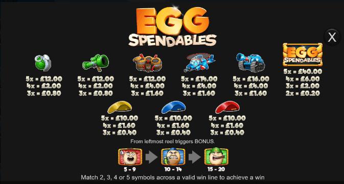 Eggspendables Bonus