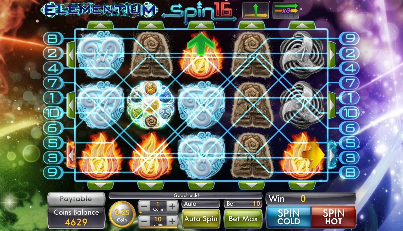 elementium spin 16 paylines