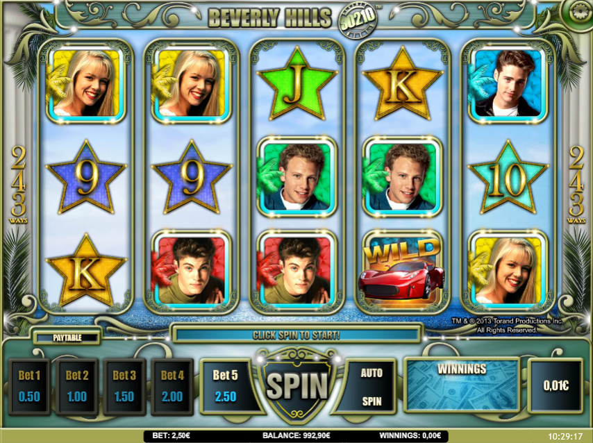 Beverly Hills 90210 slots game gameplay