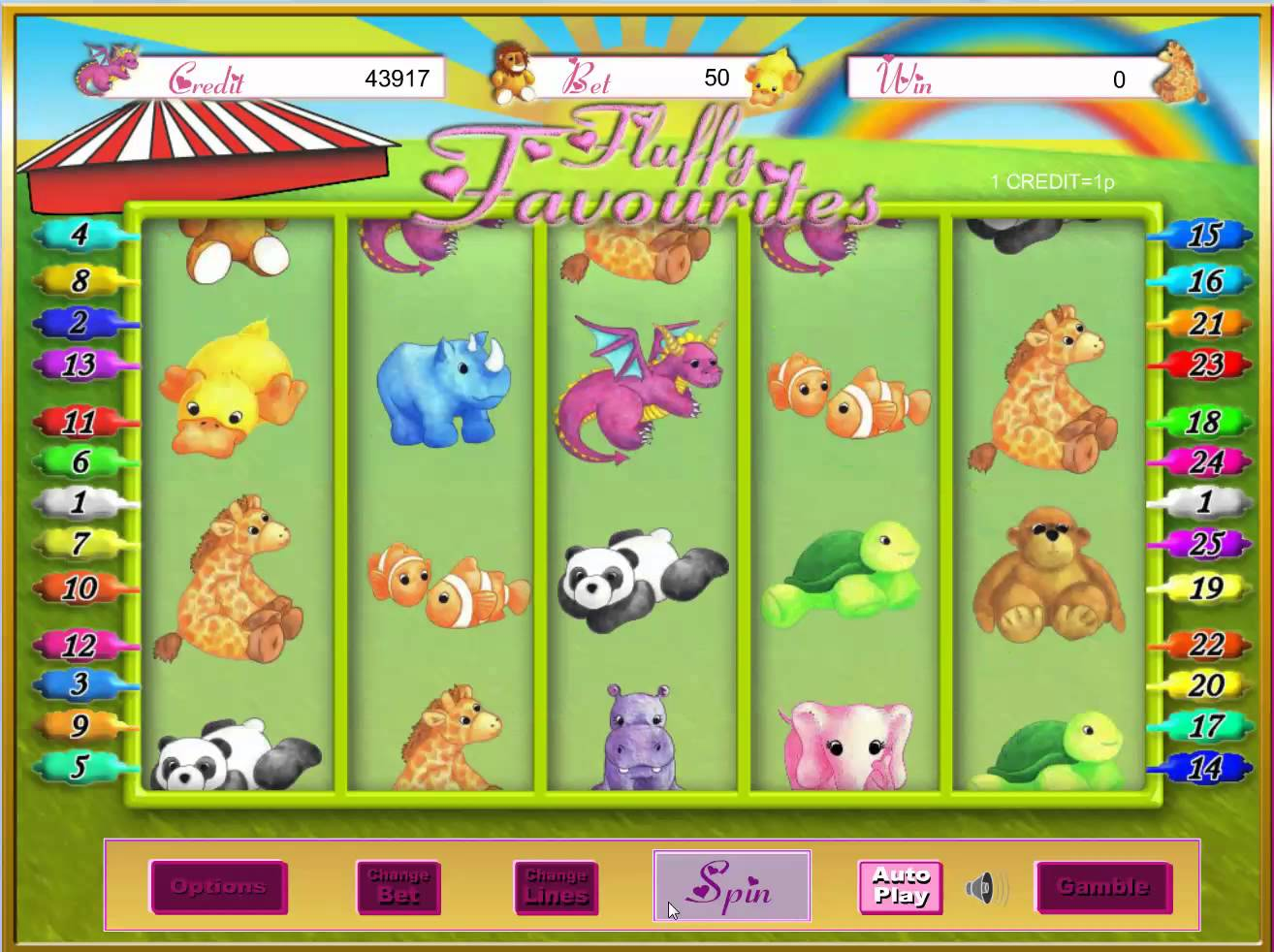 Fluffy Favourites Jackpot Gameplay