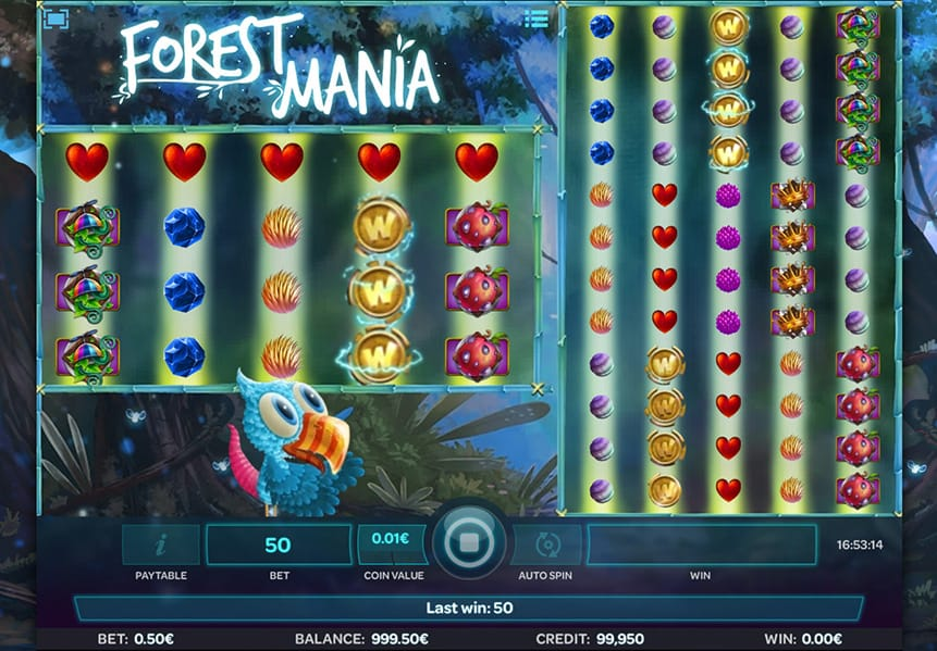 Forest Mania Slot Game Screenshot