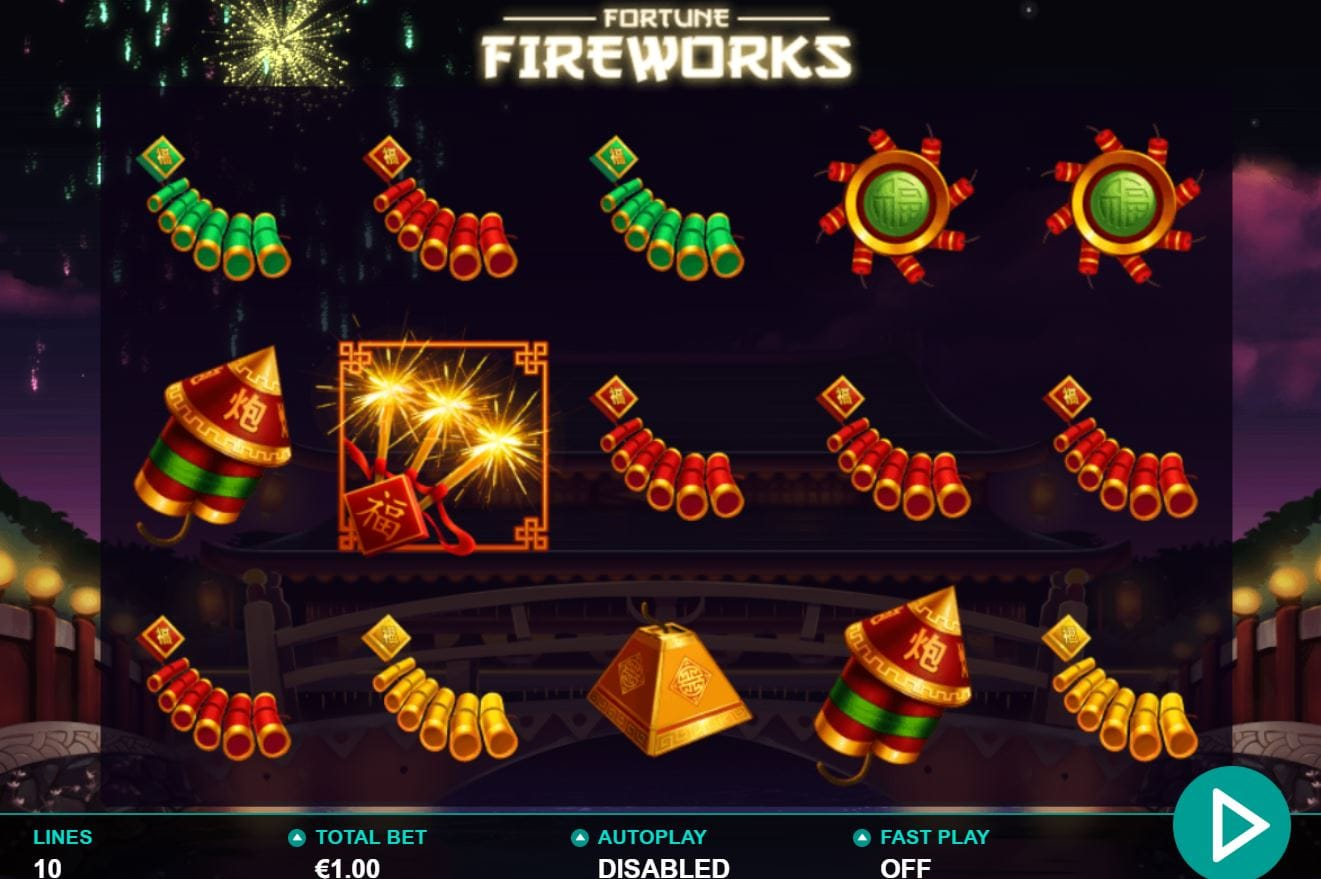 Fortune Fireworks slot machine Gameplay
