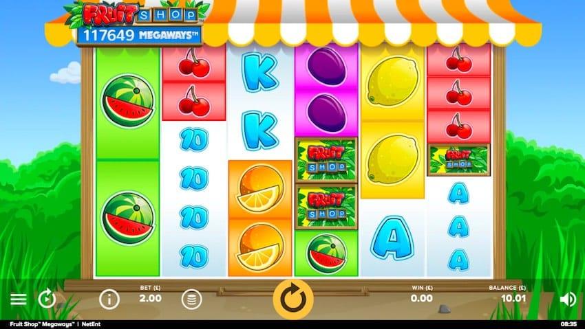 Fruit Shop Megaways Slots Gameplay
