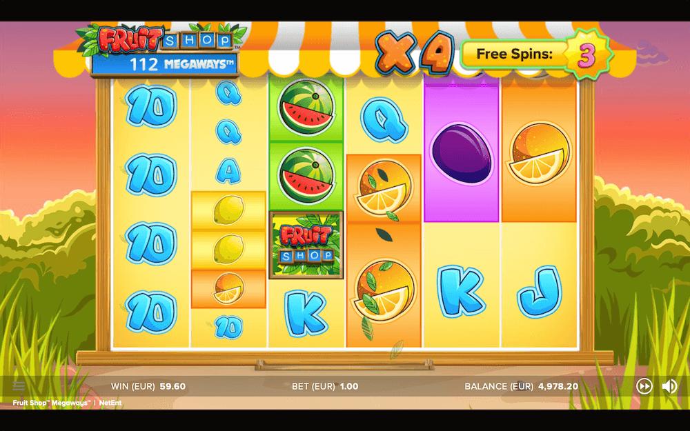 Fruit Shop Megaways Slot Reels