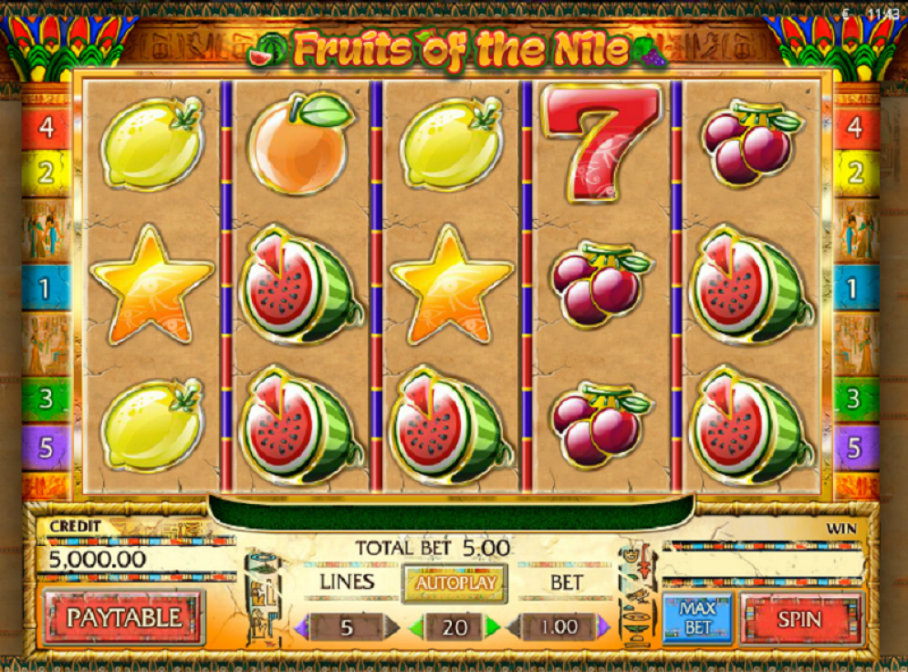 Fruits of the Nile Gameplay