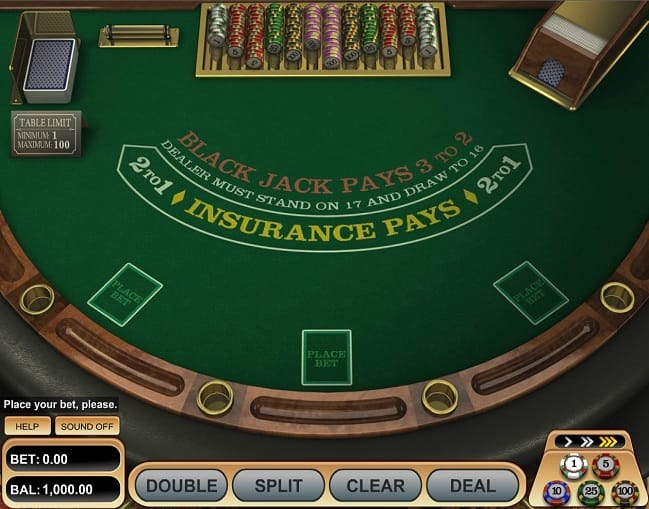 Single deck blackjack pro gameplay