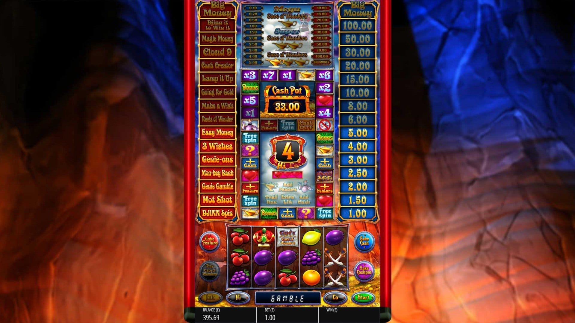 genie jackpots cave of wonders slots games