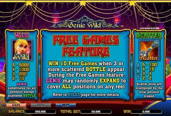 Genie Wild free games image