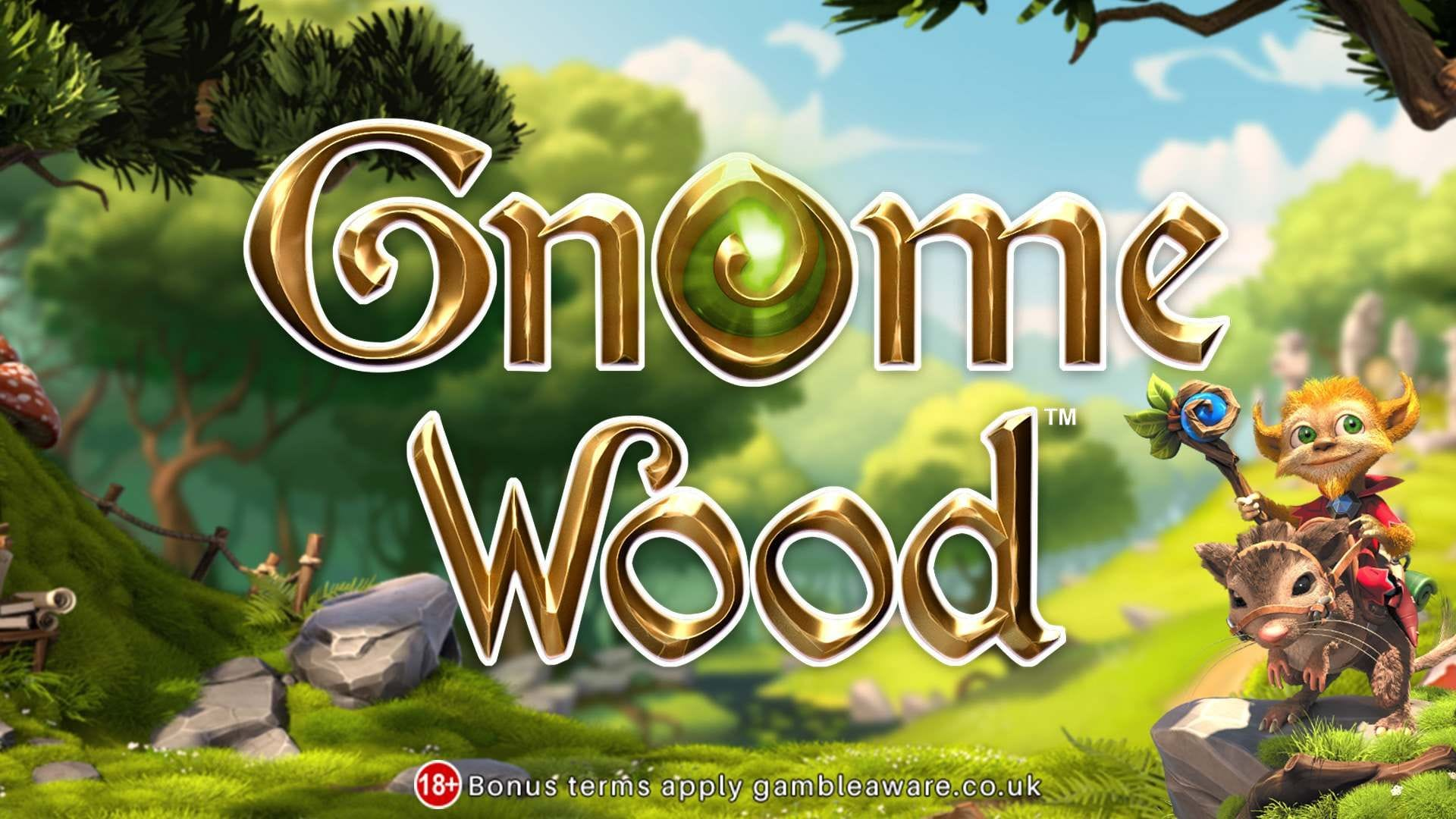 gnome wood slots game logo