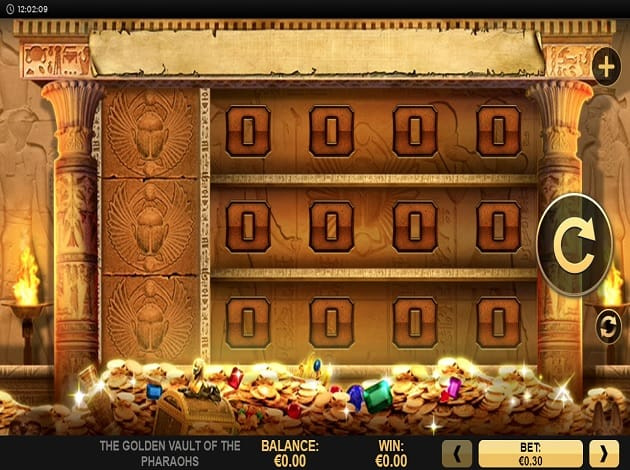 golden vault of the pharaoh slot game