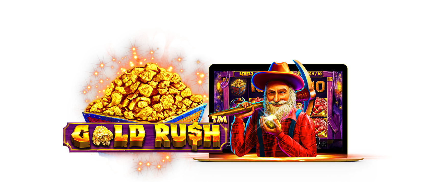gold rush! slots game logo