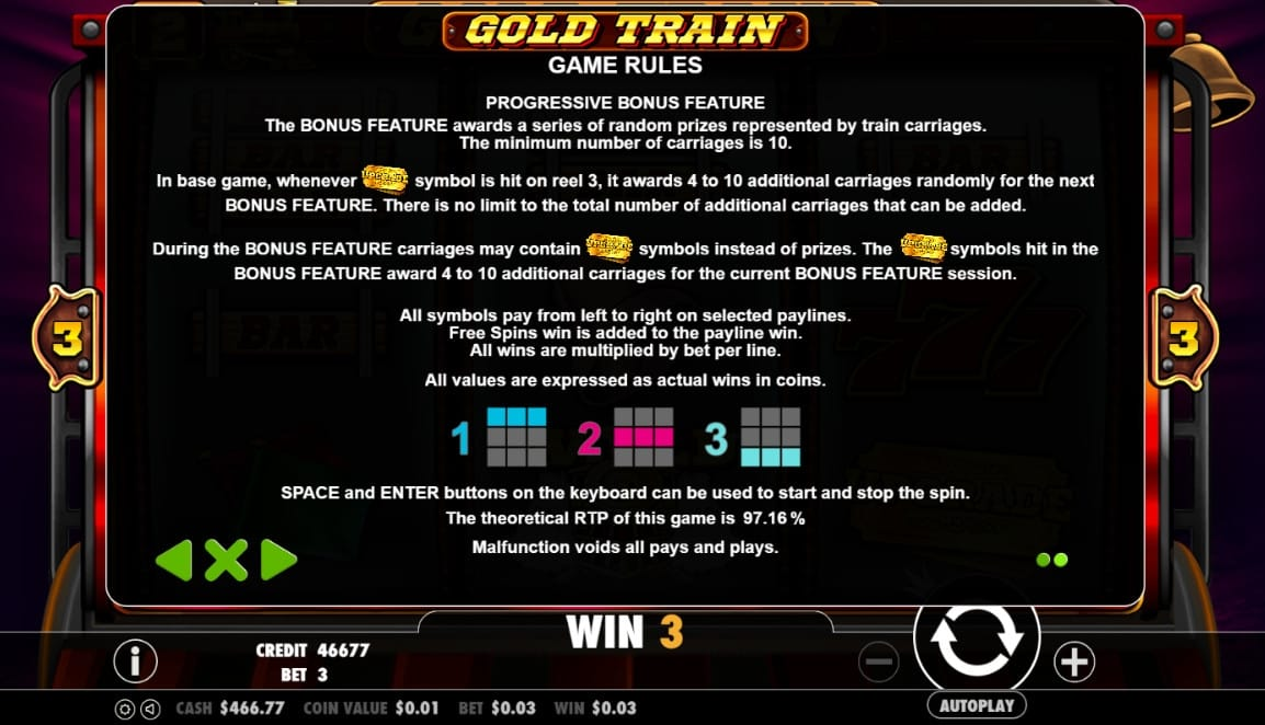 gold train game rules
