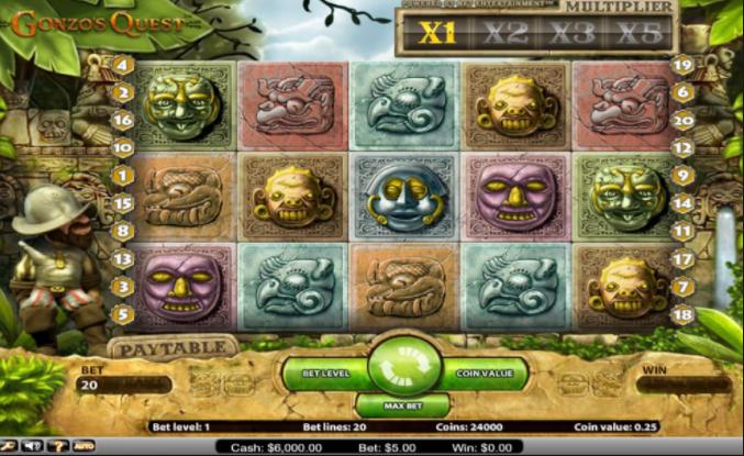 Gonzos Quest gameplay