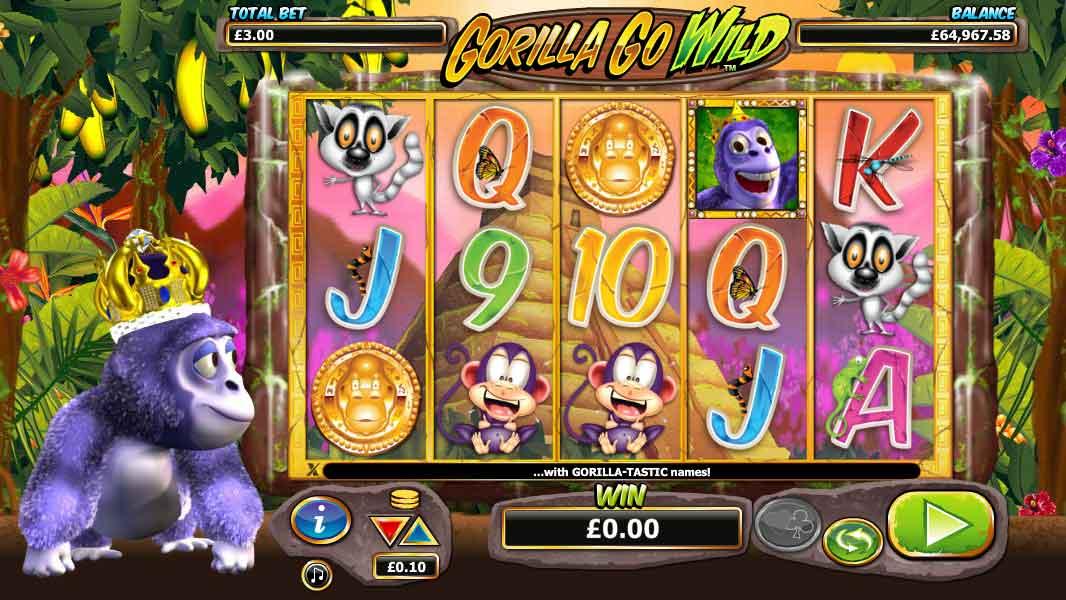 Gorilla Go Wild Gameplay