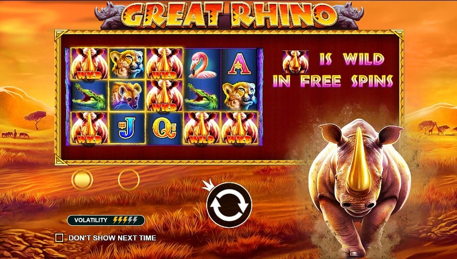 great rhino free spins