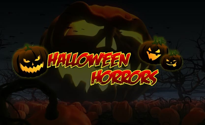 halloween horrors slots game logo