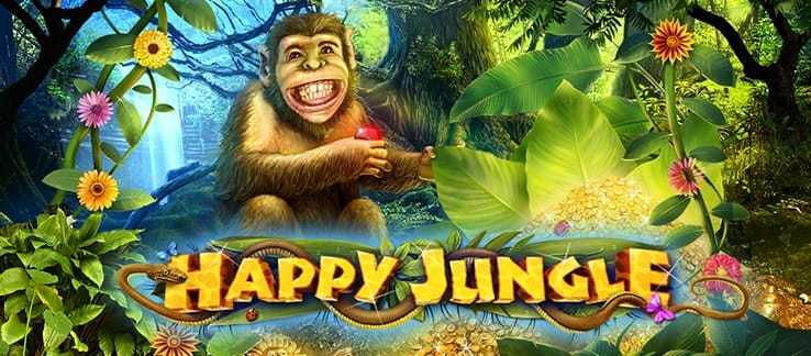 Happy Jungle Deluxe Slots game logo