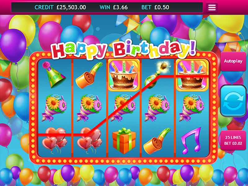 Happy Birthday Jackpot Win