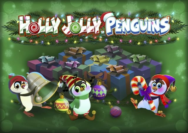 Holly Jolly Penguins Slot Game Logo