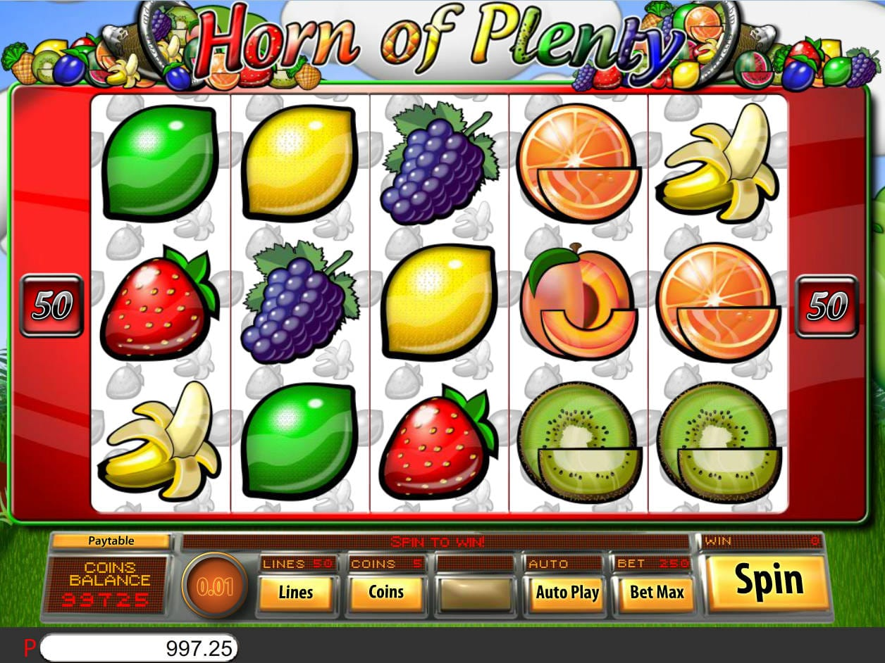horn of plenty spin 16 gameplay