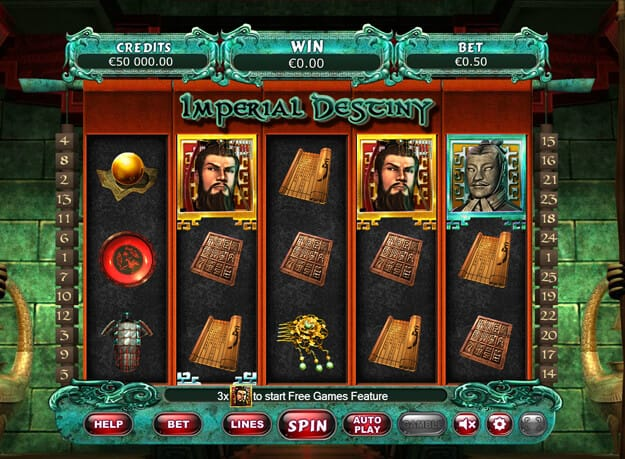 Imperial Destiny Slot Game Screenshot