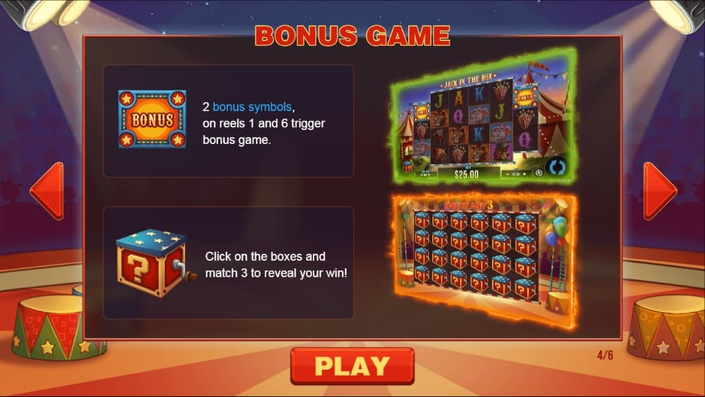 Jack in the Box Bonus Game
