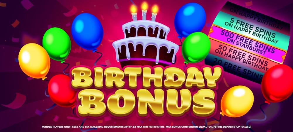 Birthday Bonus Slots Baby