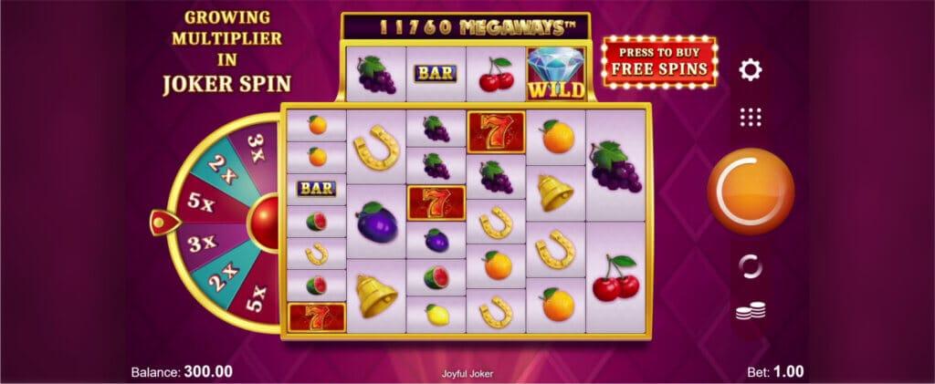 Joyful Joker Megaways Slot Gameplay