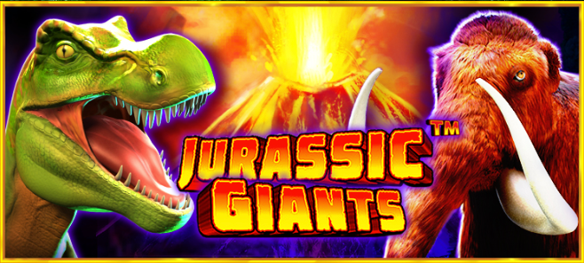 jurassic giants slots game logo