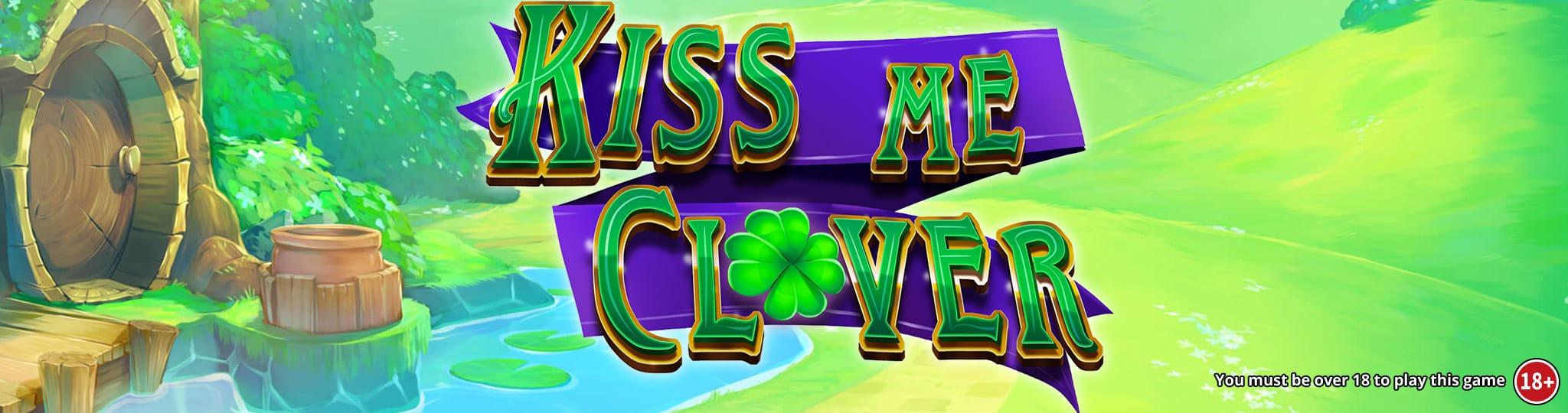 kiss me clover jackpot slots game logo