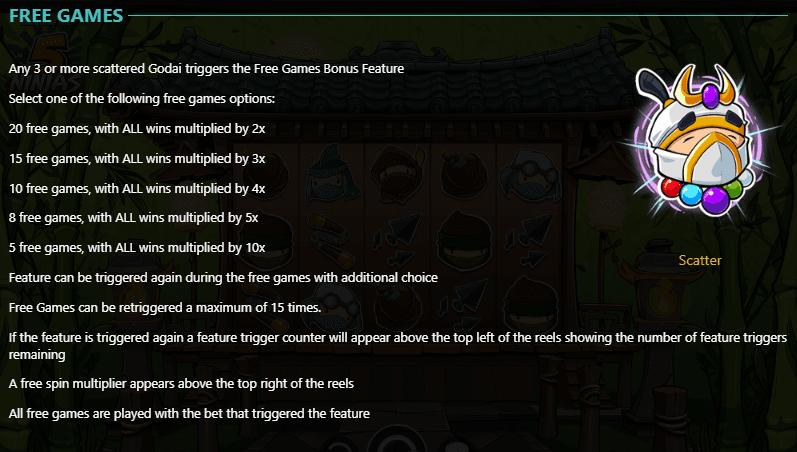 Legend Of The 5 Ninja Free Spins