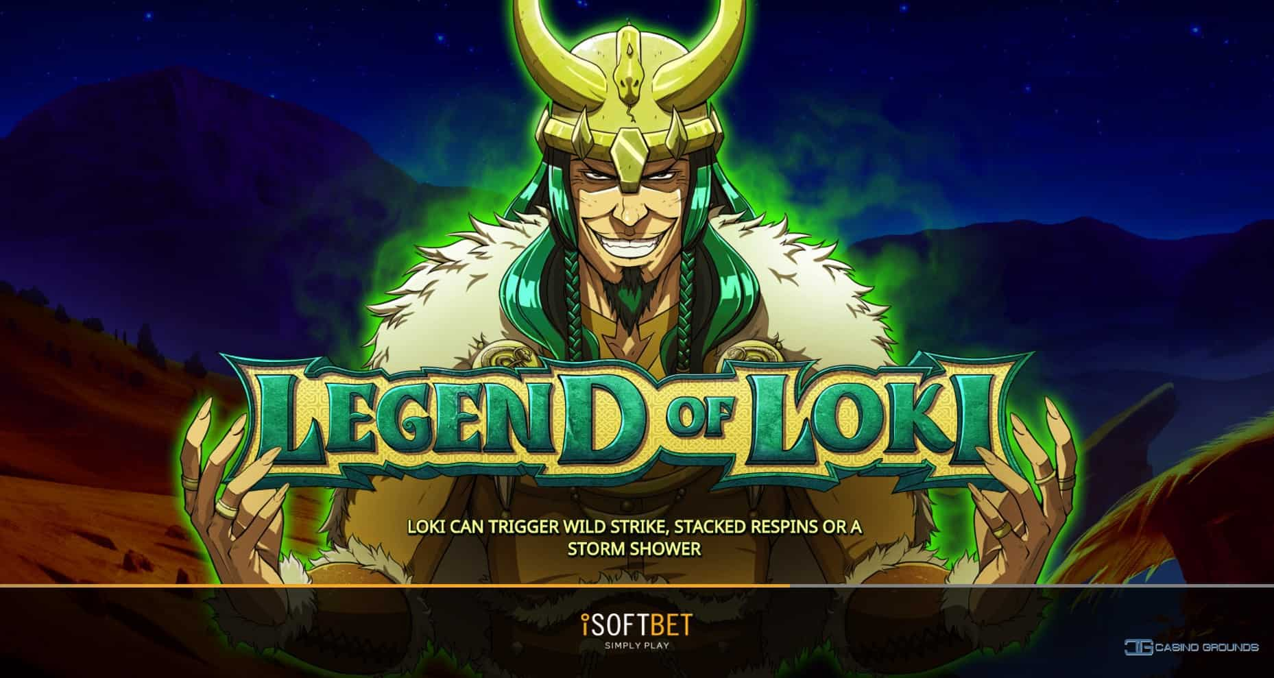 legend of loki slots game logo