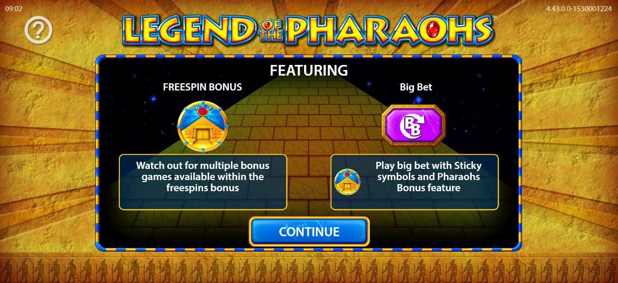 Legend of the Pharaohs Introduction