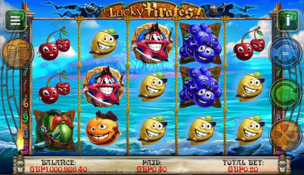 Lucky Pirates slots game gameplay