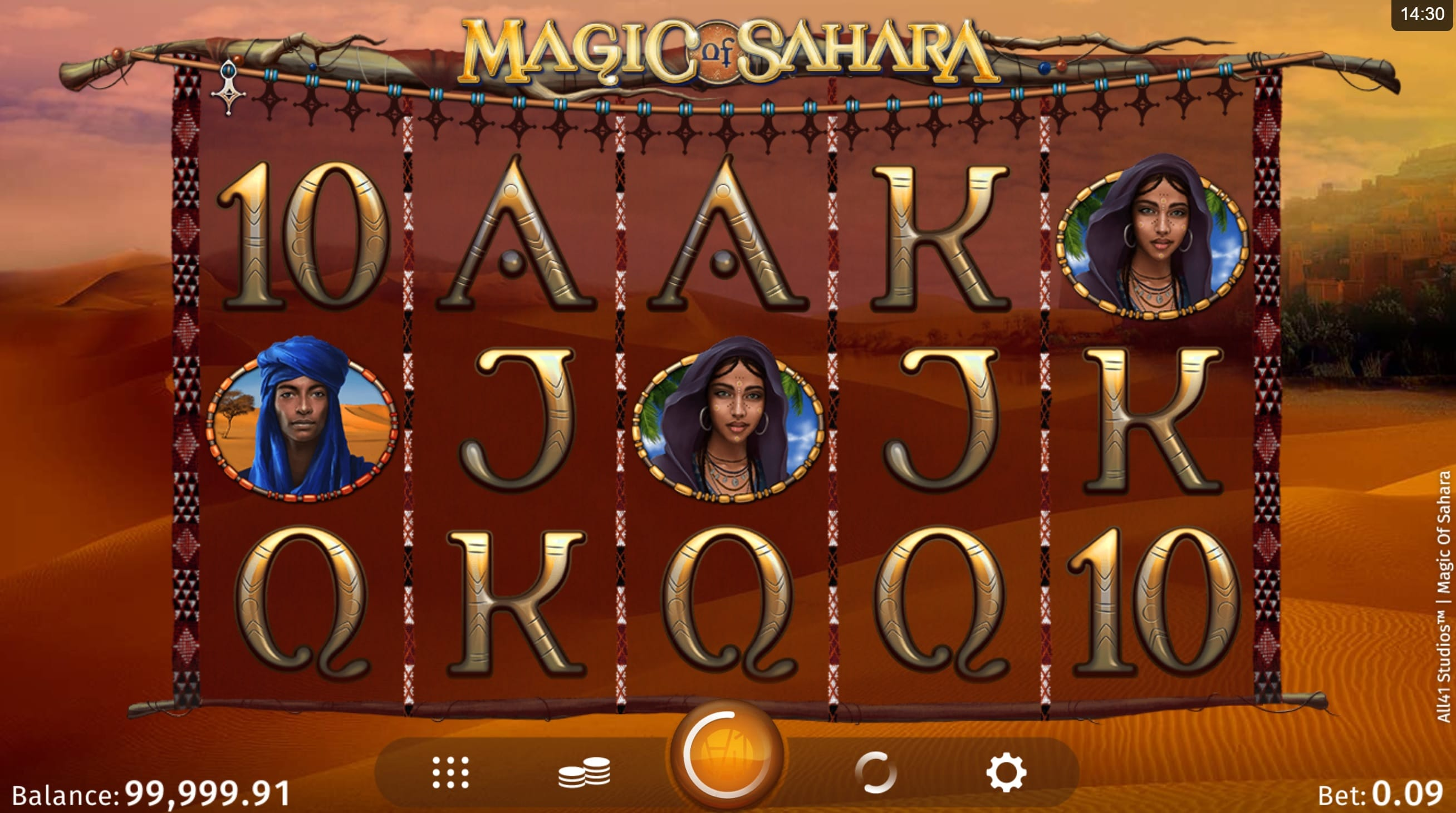 Magic of Sahara slot game Logo