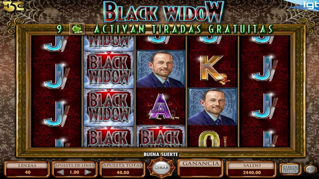 Black Widow Slots Game gameplay