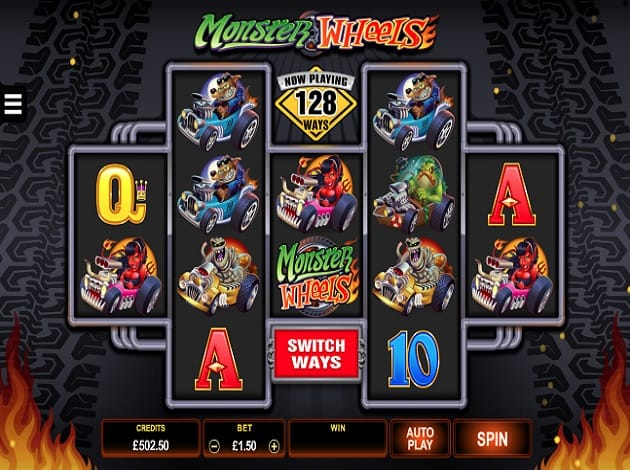 Monster Wheels Slot Game Screenshot