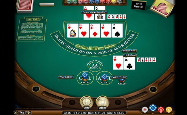 casino hold em gameplay