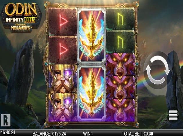 Odin Infinity Reels Slot Gameplay