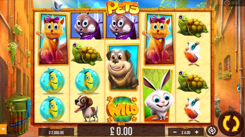 Pets Slot Game Screenshot