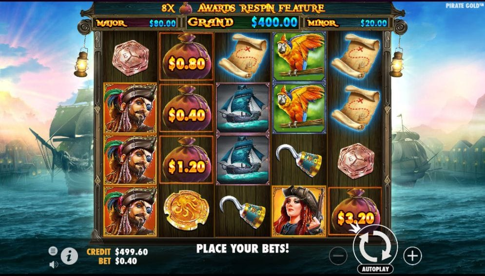 Pirate Gold slot gameplay