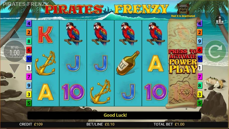 pirates' frenzy online slot machine