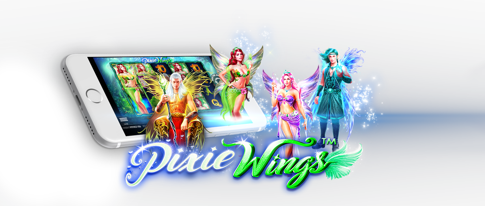 pixie wings slots game logo