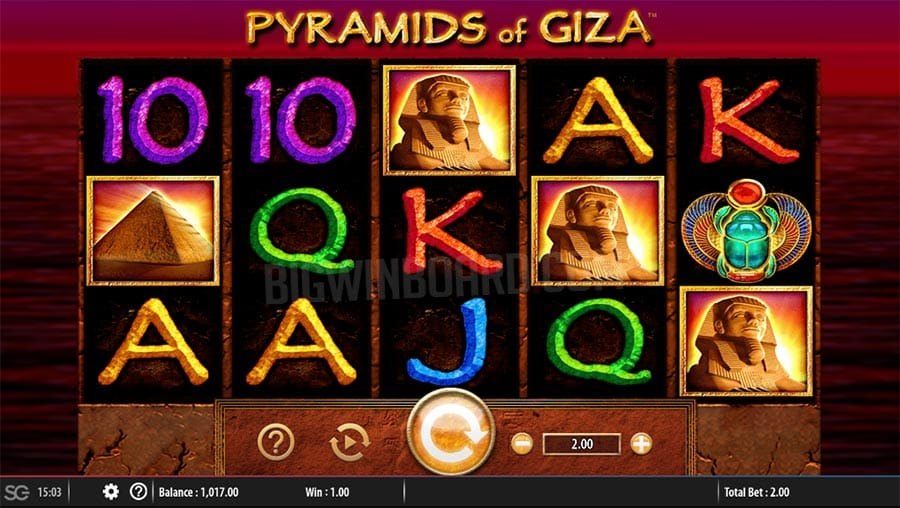 Pyramids of Giza Casino Game Screen