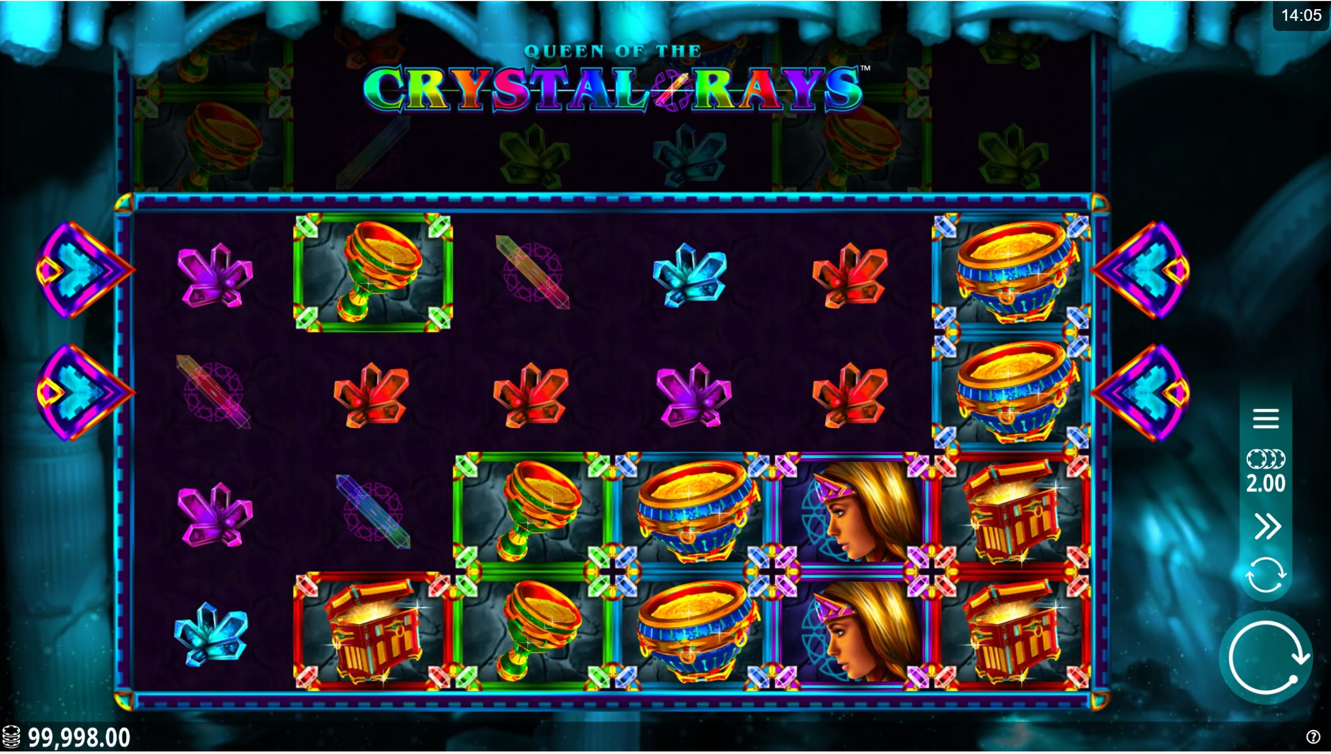 Crystal Rays Slot Gameplay